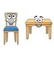 Cute cartoon wooden furniture vector image