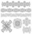 Medieval decoration set vector image