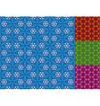 seamless snowflake pattern vector image