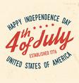 4th july design in retro style