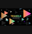 abstract colorful triangle banner design vector image vector image