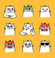 angry cats smiles vector image vector image