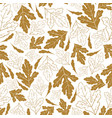 Autumn seamless pattern with golden leaves isolate