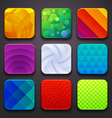 background for app icons-part 6 vector image vector image