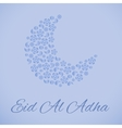 Beautiful greeting card for Eid Mubarak festival vector image vector image
