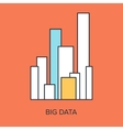 Big Data vector image vector image