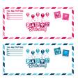 Birthday Party Invitation Envelope vector image vector image