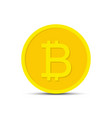 bitcoin icon for crypto currency virtual currency vector image vector image