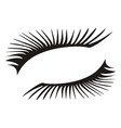 black eyelashes icon on a white background vector image