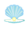 Blue seashell with pearl