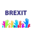 Brexit Text Isolated colorfull hand vector image vector image