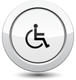 Button with man in wheelchair vector image vector image