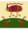 Cheerful bright hedgehog vector image vector image