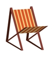 colorful beach seat graphic vector image