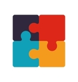 colorful pieces of jigzaw puzzle vector image
