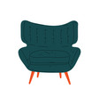 comfortable armchair on wooden legs cushioned vector image vector image