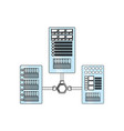 database servers storages vector image vector image