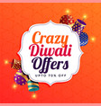 diwali sale background with crackers vector image vector image