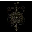 Geometric mandala symbol vector image vector image