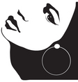 girl with earring vector image vector image