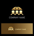 gold save people protection insurance logo vector image vector image