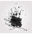grunge background with black splash vector image vector image