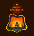 happy halloween greeting poster design vector image vector image
