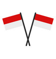 indonesia flag in on white background vector image vector image