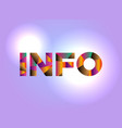 info concept colorful word art vector image