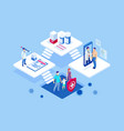 isometric online medical advise or consultation vector image