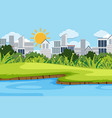 landscape background design with buildings in city vector image vector image