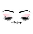 lashes and brow vector image vector image