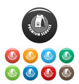 laundry service icons set color vector image
