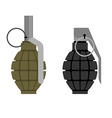 Military grenade Set of military hand grenade vector image vector image
