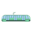 modern city tram car icon cartoon style vector image vector image