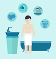 Morning personal hygiene and care vector image