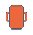 mug cup object vector image
