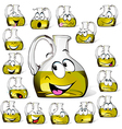 Olive oil bottle cartoon vector image vector image