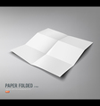 Paper Folded six fold for business design vector image