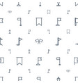 pennant icons pattern seamless white background vector image vector image
