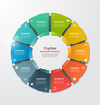 pie chart infographic template 10 options vector image vector image