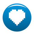 pixel heart icon blue vector image