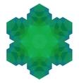 Polygonal Green Symbol vector image vector image
