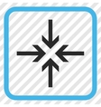 Reduce Arrows Icon In a Frame vector image vector image