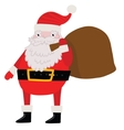 Santa Claus with gift bag Christmas background vector image vector image