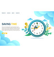 saving time website landing page design vector image