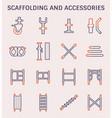 scaffolding accessory icon vector image