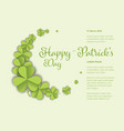st patricks day greeting card template vector image