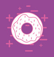 sweet donut icon vector image