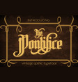 the pontifice - vintage gothic label font vector image vector image